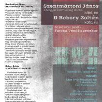 """A """"Parnasszus kortárs apostolai"""" – Szentmártoni János & Bobory Zoltán"""