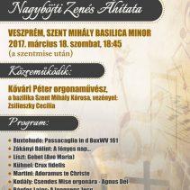 Az Aegis Kultúráért és Művészetért Alapítvány nagyböjti zenés áhítata Veszprémben