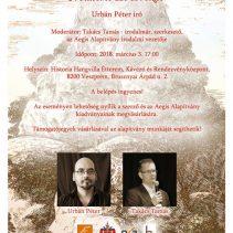 Szombaton Veszprémben folytatódik a Parnasszus kortárs apostolai irodalmi est sorozat
