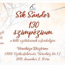 Sík Sándor 130 szimpózium