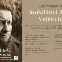 Könyvbemutató: Vidéki bál – Kodolányi János ismeretlen elbeszélései – elmarad
